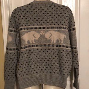 Pendleton White Buffalo Gray Sweater Large